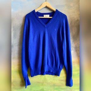 Vintage Dior royal blue sweater